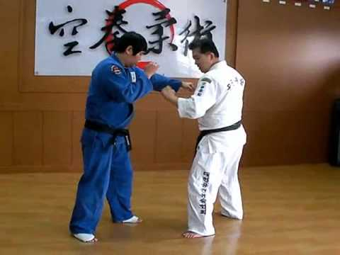(95)from The standing sparring to Large inner reaping(O-uchi-gari) Korea jiu jitsu Hakido