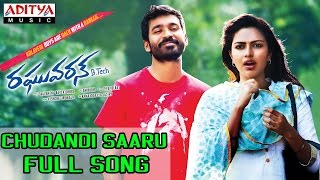 getlinkyoutube.com-Chudandi Saaru Full Song II Raghuvaran B Tech Movie II Dhanush, Amala Paul