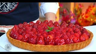 getlinkyoutube.com-Choumicha : Tarte à la crème au citron et aux fraises