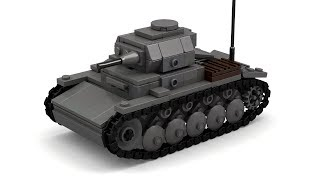 getlinkyoutube.com-Lego WWII German Panzer II Tank Instructions