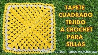 getlinkyoutube.com-Tapete Cuadrado Tejido a Crochet para sillas