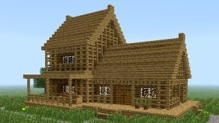 getlinkyoutube.com-MINECRAFT: How to build little wooden house #2