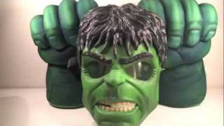 getlinkyoutube.com-The Incredible Hulk Power Glow Mask & Hulk Smash Hands Movie Role Play Toy Review