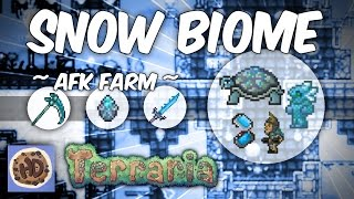 getlinkyoutube.com-Terraria 1.3 AFK Underground Snow Biome Farm | Frostbrand | Frozen Turtle Shell | Frost Staff