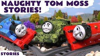 getlinkyoutube.com-Thomas & Friends Naughty Pranks with Tom Moss Play Doh Diggin Rigs Toy Train Stories TT4U