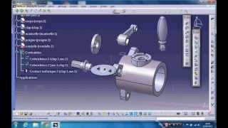 getlinkyoutube.com-Assembly design - valve - catia