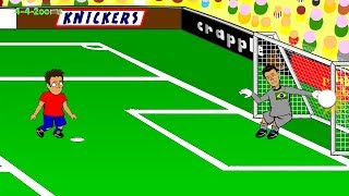 getlinkyoutube.com-🇧🇷BRAZIL PENALTY SHOOTOUT Brazil vs Chile 1-1🇨🇱 Highlights 28.6.2014 (World Cup Cartoon)