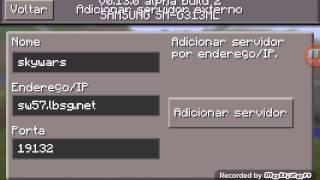 getlinkyoutube.com-Como entrar em um Server no Minecraft PE v0.13.0