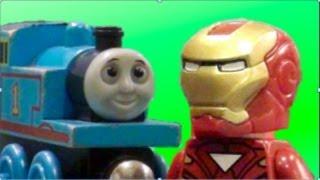 getlinkyoutube.com-Thomas vs. Iron Man - A Lego Stop-Motion Short Film