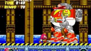 Knuckles in Sonic 2 Super Knuckles Boss Run