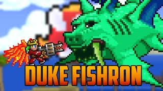getlinkyoutube.com-Terraria - Duke Fishron Boss with Adamantite Armor & Gatligator
