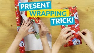 Gift Wrapping Hack With One Piece of Tape!