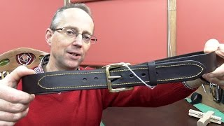 getlinkyoutube.com-Making A Leather Belt With Attractive Hand Saddle Stitching Detail viewable in WQHD