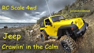 getlinkyoutube.com-RC Scale 4wd SCX10 Jeep Crawling in the Calm