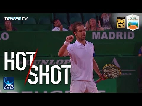 Hot Shot: Gasquet Finishes Point With Gentle Backhand Volley