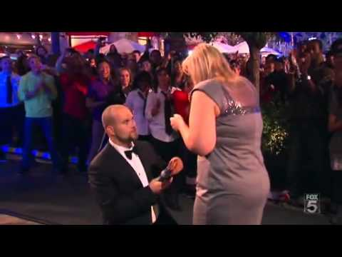 Marriage Proposal &amp; Wedding in an Enormous Dancing Mobbed