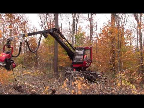 Komatsu 911.5 Wheeled Harvester with Komatsu 365 Dangle Head
