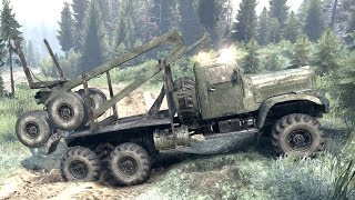 SPINTIRES - C 255 Logging Truck Off Road Driving