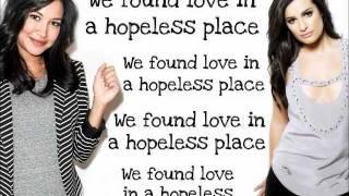 getlinkyoutube.com-Glee - We found Love  (Lyrics)