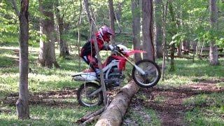 getlinkyoutube.com-Honda CRF250L - Owning a Big Log (Log Hopping - again! ;-))