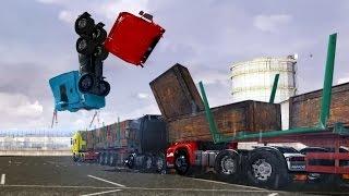 getlinkyoutube.com-Crash Test 2 - ETS 2 - Euro Truck Simulator 2 New Mods - 2015