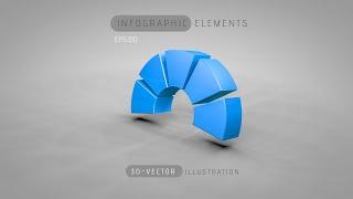 getlinkyoutube.com-3D Graphic Design Infographic   Illustrator Cinema 4D C4D Tutorials