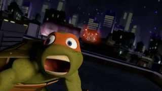 getlinkyoutube.com-TMNT - Michelangelo (Mikey) listening Daft Punk 'Get Lucky'