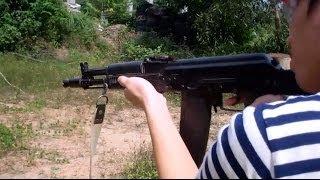 getlinkyoutube.com-เกราะกันกระสุน ทดสอบ อาก้า AK 102 (5.56) และ .357 Magnum ตอน 3 / D.I.Y Armor Plate 03