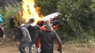 getlinkyoutube.com-Crash & Fire @ RALLY ESTONIA 2013