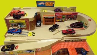 getlinkyoutube.com-1979 Hot Wheels Service Center Sto & Go Playset Brand New Unboxing