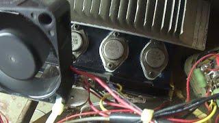 getlinkyoutube.com-Amplificador mono reforçado para maior potência RMS. Artesanal