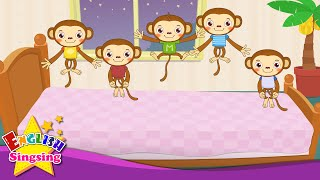 getlinkyoutube.com-Five Little Monkeys Jumping on the Bed - Nursery Popular Rhymes - English Song For Kids - Music