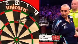 getlinkyoutube.com-Michael Van Gerwen 7-0 VS Phil Taylor! PREMIER LEAGUE DARTS 07/02/14