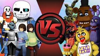 getlinkyoutube.com-UNDERTALE vs FIVE NIGHTS AT FREDDY'S! TOTAL WAR! (Sans vs Freddy 2) Cartoon Fight Club Episode 115