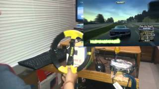 getlinkyoutube.com-DIY homemade steering wheel (with vibration) gameplay & TUTORIAL