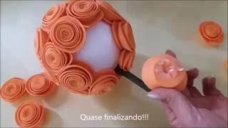 getlinkyoutube.com-Faça você mesmo: vaso com flores de EVA