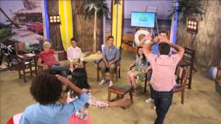 getlinkyoutube.com-Teen Beach Movie - Live Chat - The Whole Cast - Part 1