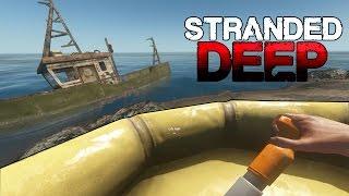 """Stranded Deep 0.02 H1 # 04 """"Polowanie na rekiny, eksploracja wraków"""" [PL/HD]"""