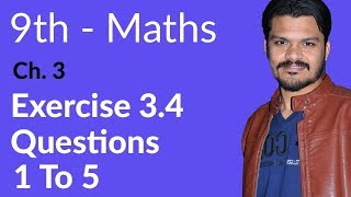 Mathematics Exercise 3.4 Question no 1 to 5 - Mathematics Chapter 3 Logarithms - 9th Class