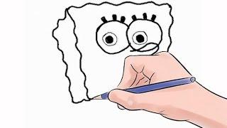 getlinkyoutube.com-How to Draw SpongeBob SquarePants Easy Step by Step