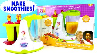 getlinkyoutube.com-Jamba Juice SMOOTHIE and Ice Pop Maker! DIY Make Your Own Frozen Treats