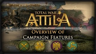 getlinkyoutube.com-Total War: Attila - Gameplay ~ Campaign Map Overview & Features!