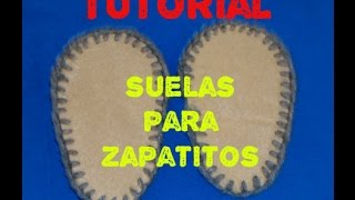 getlinkyoutube.com-Suela o plantilla para Zapatitos de bebe
