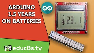 getlinkyoutube.com-Arduino Project: Over one year on batteries Temperature monitor with DS18B20 Nokia 5110