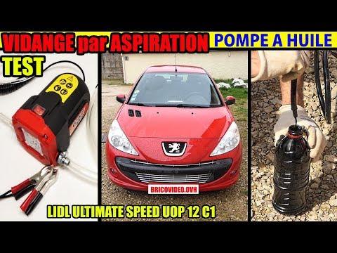 Vidange ... moteur par aspiration pompe a ... LIDL ULTIMATE SPEED + filtre a ... Peugeot 206+