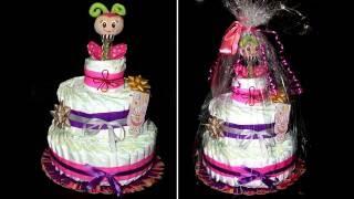 getlinkyoutube.com-#Торт из памперсов / #Подгузники / Как сделать торт из памперсов / Cake of diapers / Моя Dolce vita