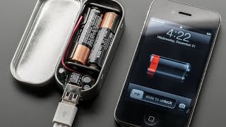 getlinkyoutube.com-How to make a Portable USB cell-phone charger