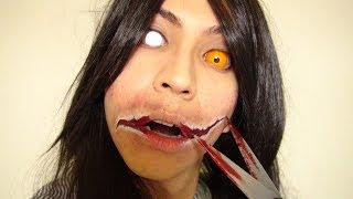 getlinkyoutube.com-口裂け女メイク方法(化粧)Slit-Mouthed Woman Makeup Tutorial