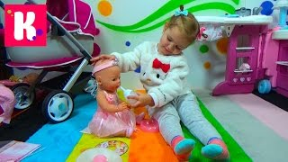 getlinkyoutube.com-Беби Бoрн Кукла балерина с аксессуарами распаковка играем Baby Born ballerina doll play and unboxing