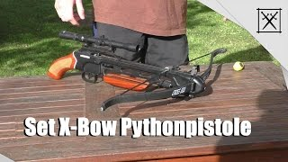 getlinkyoutube.com-SET X-BOW Pythonpistole - 150 lbs / test